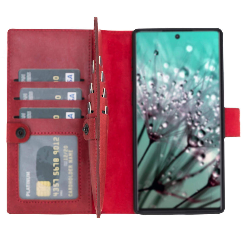 Windsor Bi-Fold Magnetic Detachable Leather Wallet Case for Samsung Galaxy NOTE 10