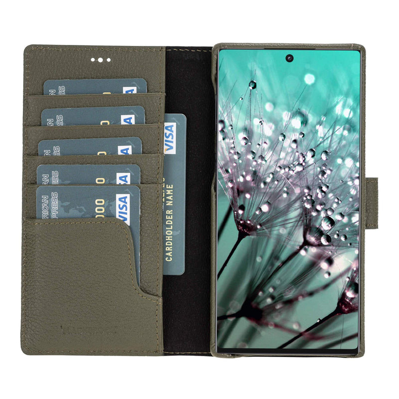 Limited Edition : Pieno Full Leather Covered Magnetic Detachable Wallet Case for Samsung Note 10