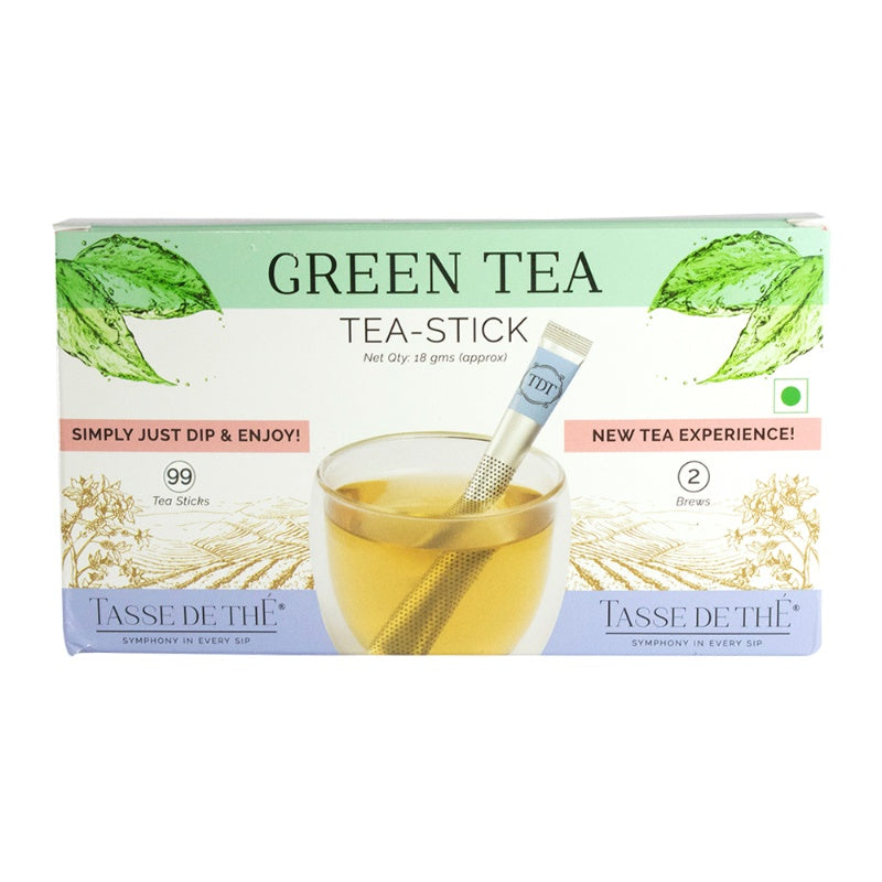 Green Tea Stick (Pack of 99 individually wrapped tea stick)