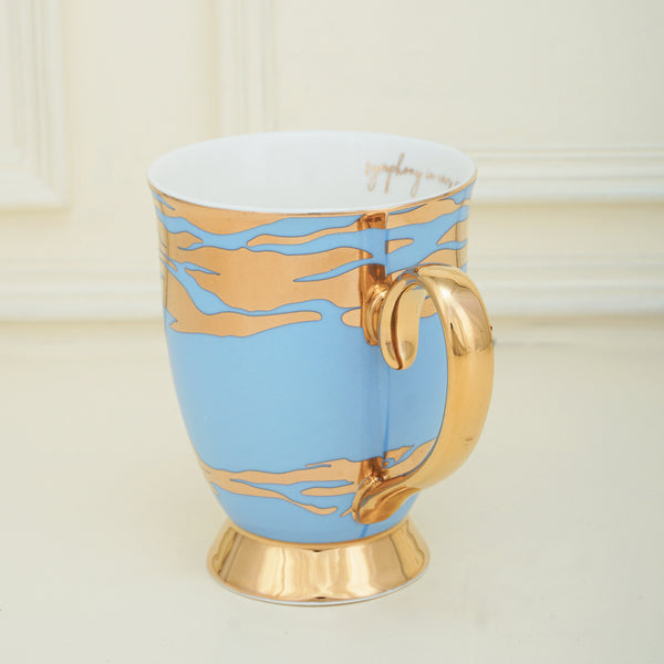 Charming Ceramic Pink & White, Tea & Coffee Mug (450ml)