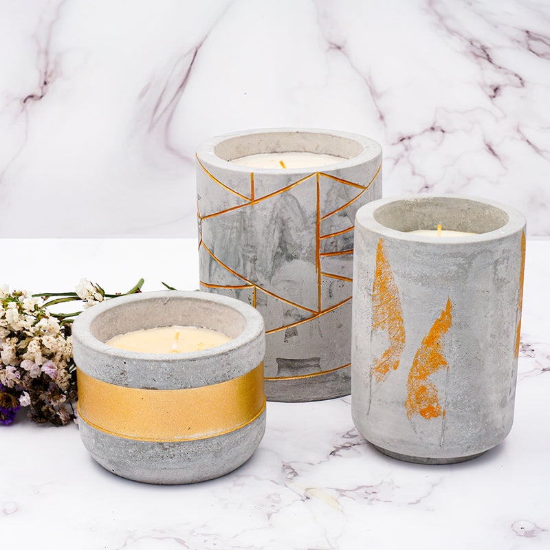 TDT Scented Clever Candles, Paraffin Wax Candle Set