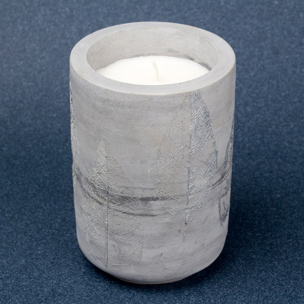 Silver foilage Candle