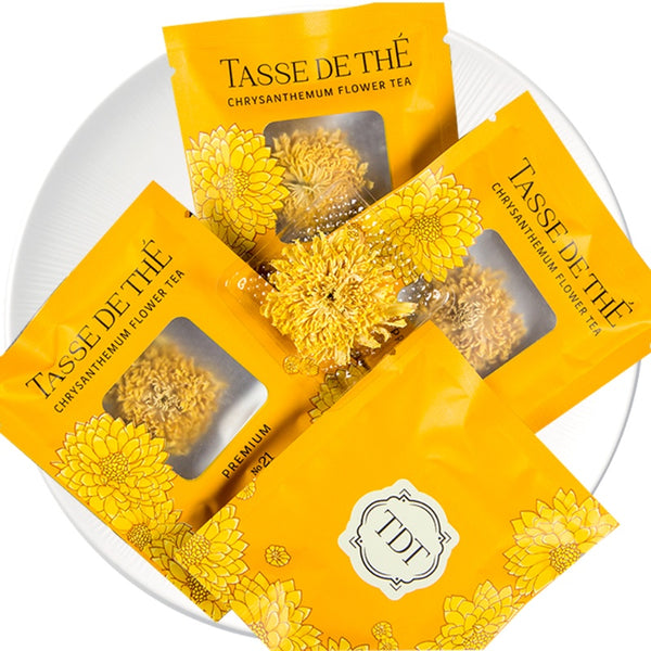 Chinese Premium Yellow Chrysanthemum Flower tea Packet, 20pcs