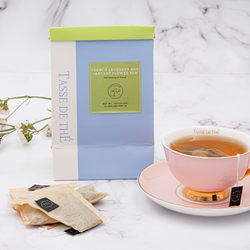 French Lavender Bud Flower Tea - Argent, 10 Biodegradable Loose Leaf Tea Bags