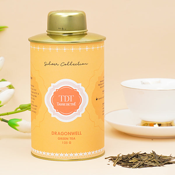 Dragonwell - Argent Loose Leaf Green Tea Tin, 125g