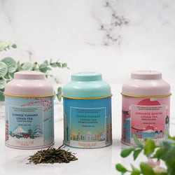 Three Mini Around The World Green Teas, 3x25g