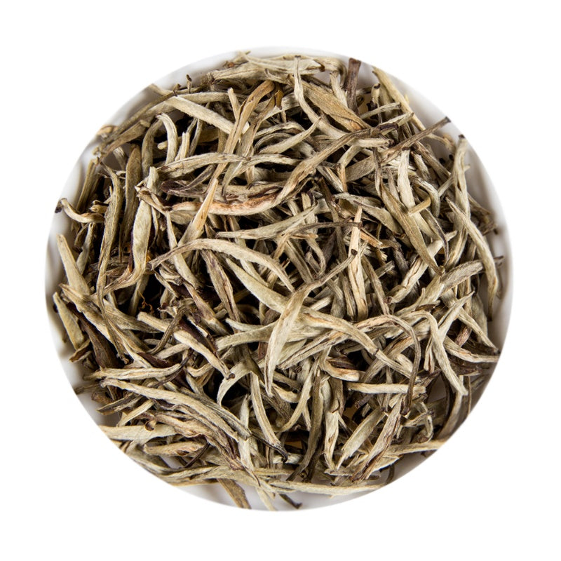 Chinese White Silver Needle Jasmine Long Bud Loose Leaf Tea Tin, 75G