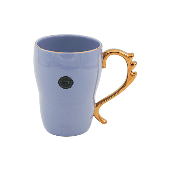 Bold & Bright Purple Mug (500ml) with Designer Golden Handle
