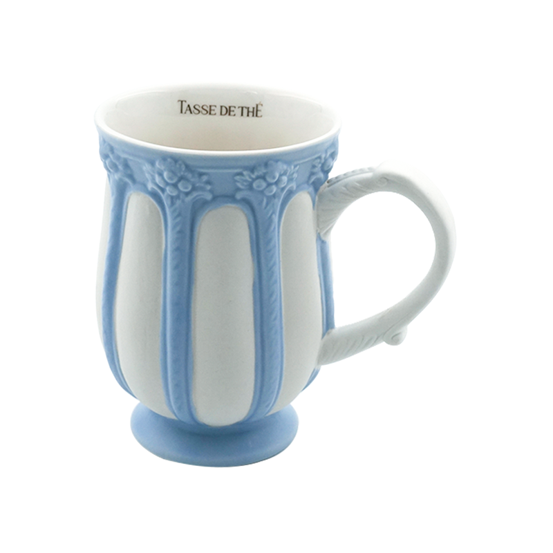 Decorative Vintage Porcelain Blue & White, Tea & Coffee Mug (320ml)