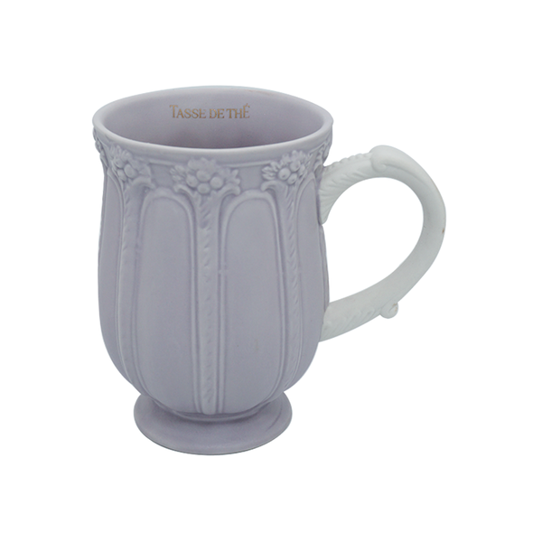 Decorative Vintage Porcelain All Purple, Tea & Coffee Mug (320ml)