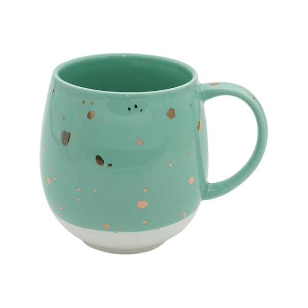 Charming Ceramic Green & White, Tea & Coffee Mug
