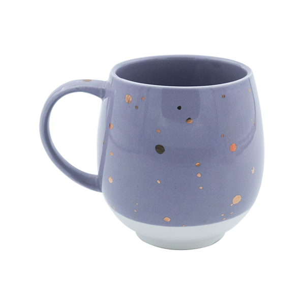 Charming Ceramic Purple & White, Tea & Coffee Mug