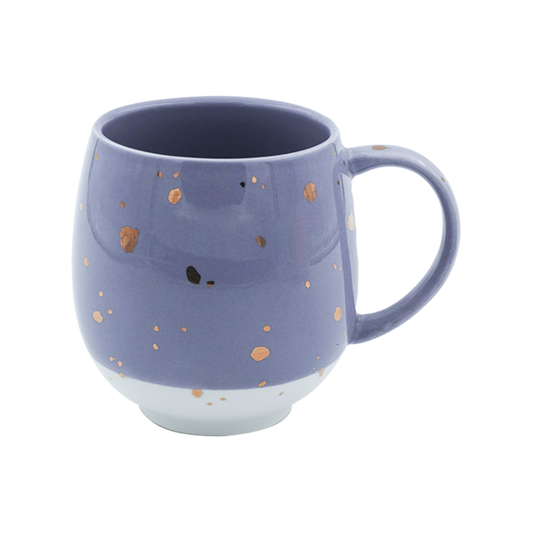 Charming Ceramic Purple & White, Tea & Coffee Mug (450ml)