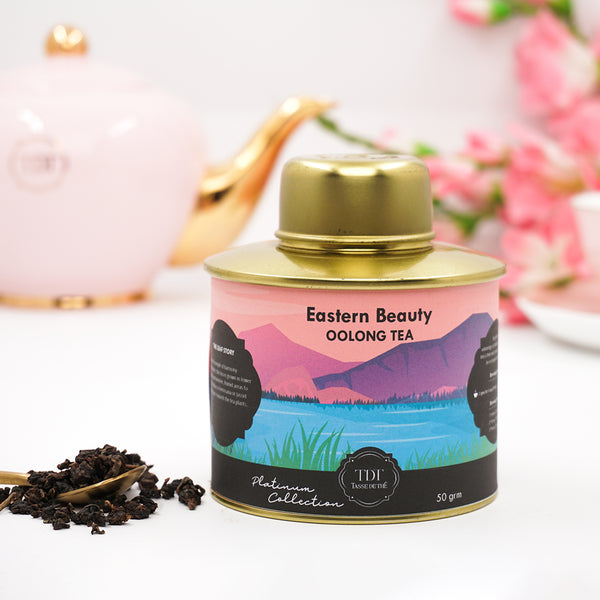 Eastern Beauty Taiwanese Platinum Oolong Loose Leaf Tea Jar, 75g