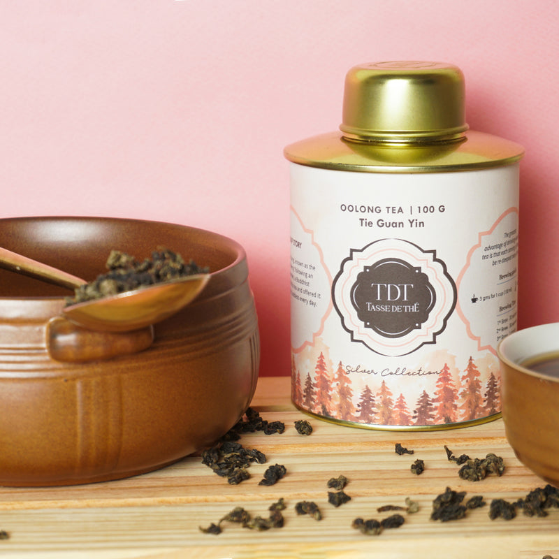 Tie Guan Yin Oolong Tea- Or Loose Leaf Tea tin, 125g