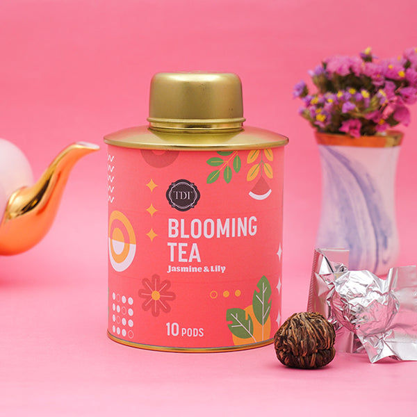 Chinese Jasmine & Lily Blooming Tea pouch, 20 pcs
