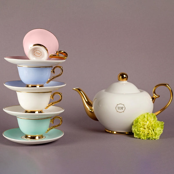 White Tea Debutante -  Teapot (700ml) & Cup saucer (60ml) set