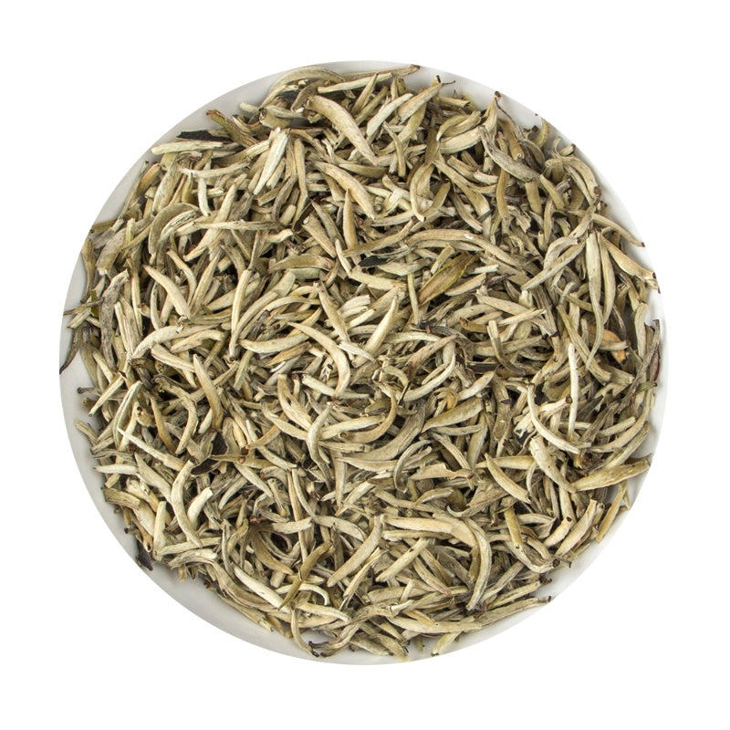 Chinese Fujian White Silver Needle Small Bud - Platine Loose Leaf Tea Pouch, 100G