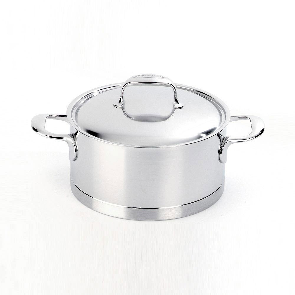 Demeyere Atlantis Casserole with Lid 18cm / 2.2L Stainless Steel - art-of-living-cookshop