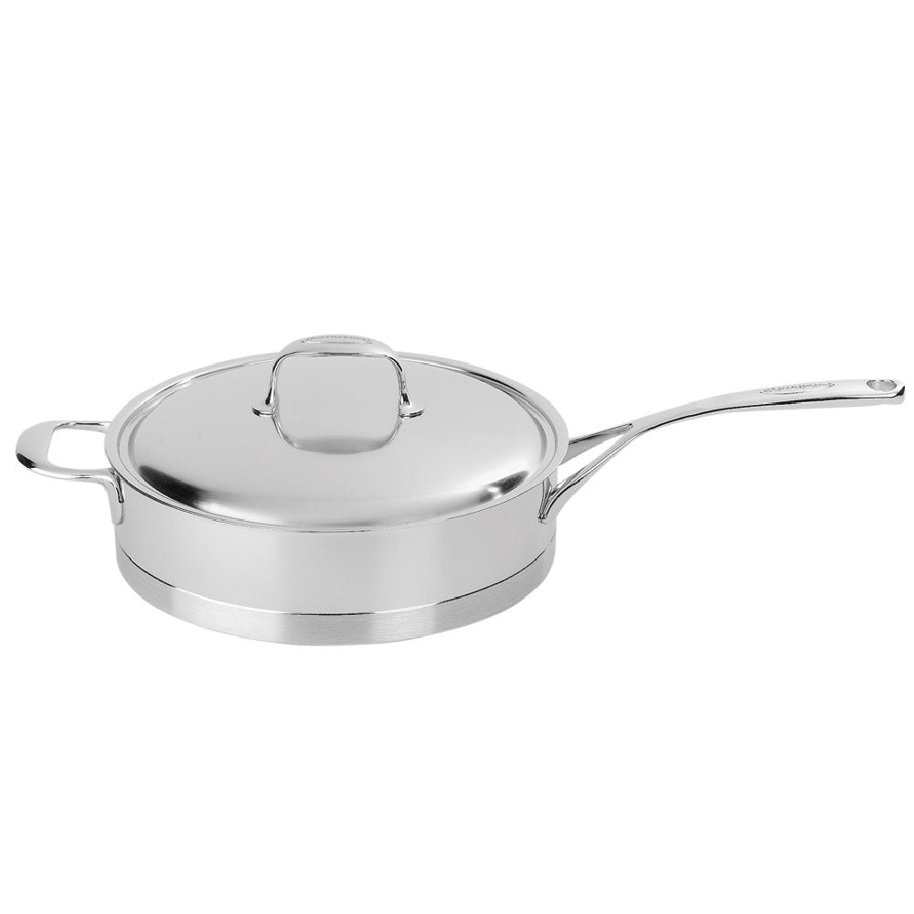 Demeyere Atlantis Saute Pan with Lid 28cm / 4L Stainless Steel - art-of-living-cookshop