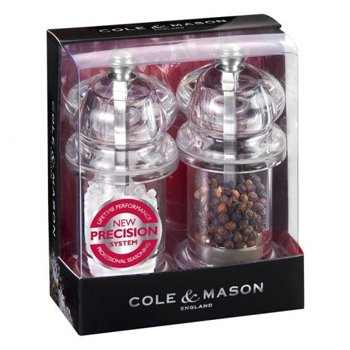 Cole & Mason Acrylic Salt & Pepper Mill Set - art-of-living-cookshop