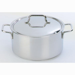Demeyere Apollo Casserole with Lid 20cm / 4.0L Stainless Steel - art-of-living-cookshop