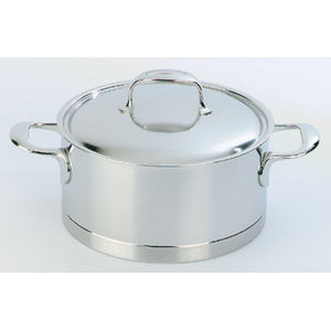 Demeyere Atlantis Casserole with Lid 16cm / 1.5L Stainless Steel - art-of-living-cookshop