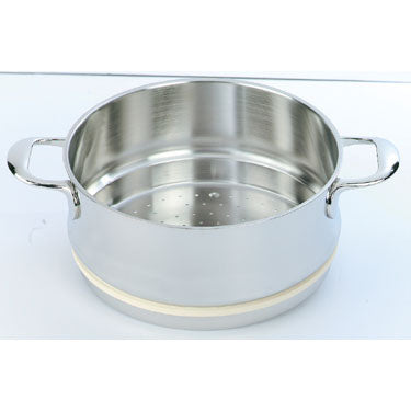 Demeyere Atlantis Steamer 24cm / 5.2L Stainless Steel - art-of-living-cookshop