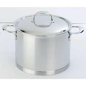 Demeyere Atlantis Stockpot with Lid 20cm / 5L Stainless Steel - art-of-living-cookshop
