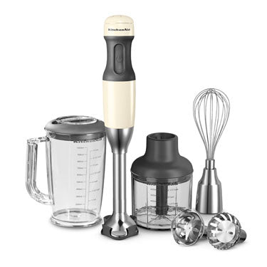KitchenAid Corded Stick Blender Cream/Almond 5KHB2571BAC - art-of-living-cookshop