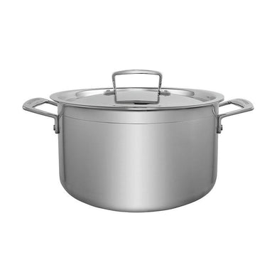 Le Creuset 3-ply Stainless Steel Deep Casserole - art-of-living-cookshop