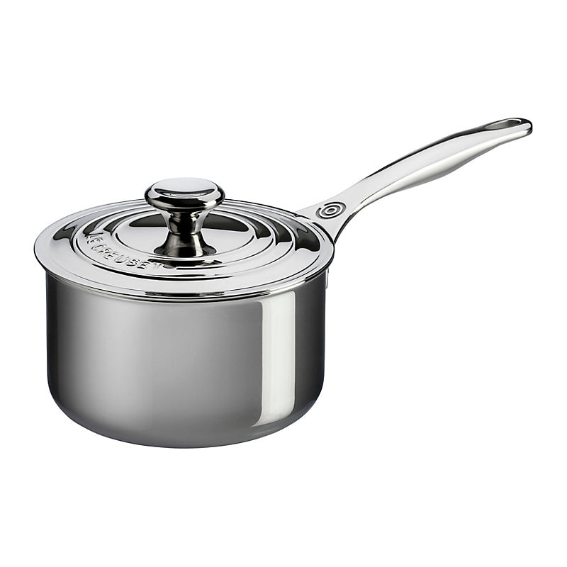 Le Creuset Signature Stainless Steel Saucepan