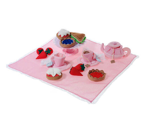 Oskar & Ellen pink 24 piece afternoon tea set
