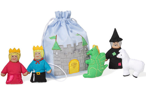 Oskar & Ellen story bag castle available at Gwen & Friends