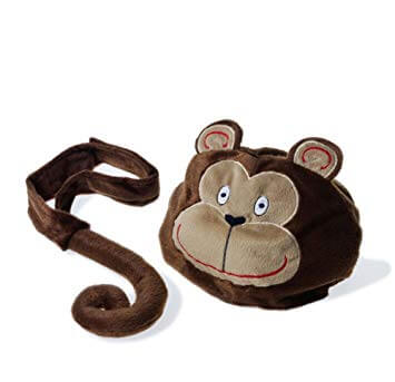 Oskar & Ellen monkey toy hat tail set available at Gwen & Friends