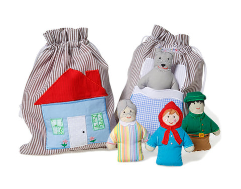 Oskar & Ellen Little Red Riding Hood Story Bag Toy available at Gwen & Friends