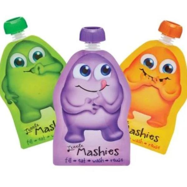 Little Mashies Reusable Food Pouches - Alex and Moo