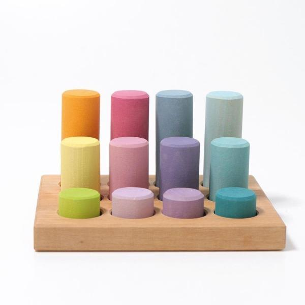 Grimm's | Small Stacking Game - Pastel - Alex and Moo