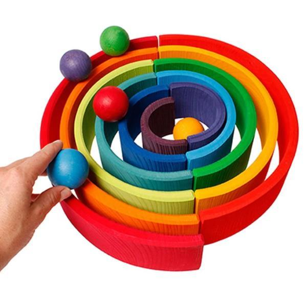 Grimm's | Rainbow Balls (Set of 6)