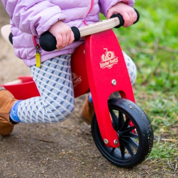 Kinderfeets | Tiny Tot Tricycle and Balance Bike 2 in 1 - Cherry Red - Alex and Moo