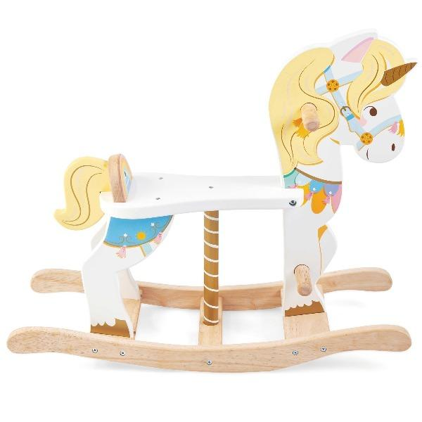 Le Toy Van | Petilou Rocking Unicorn Carousel - Alex and Moo