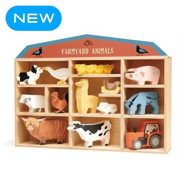 Tender Leaf Toys | Farmyard Animals Set - Alex and Moo