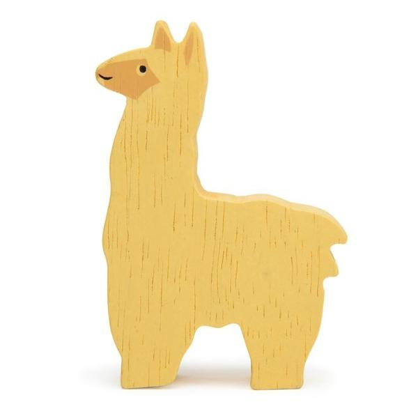 Tender Leaf Toys | Wooden Animals - Alpaca - Alex and Moo