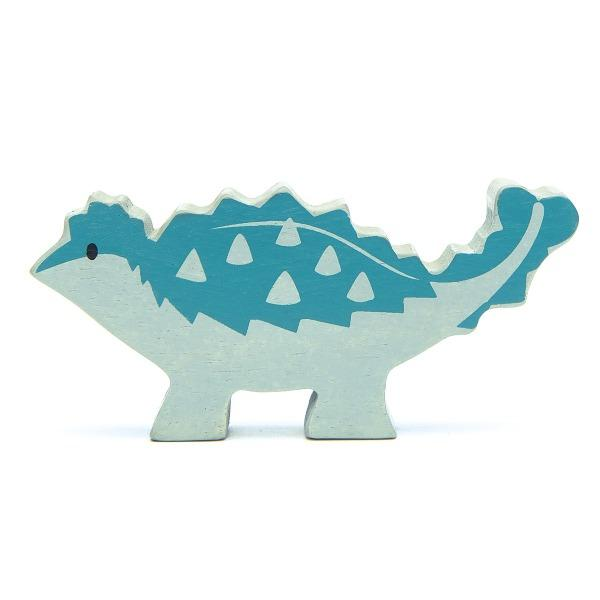 Tender Leaf Toys | Wooden Animals - Ankylosaurus - Alex and Moo