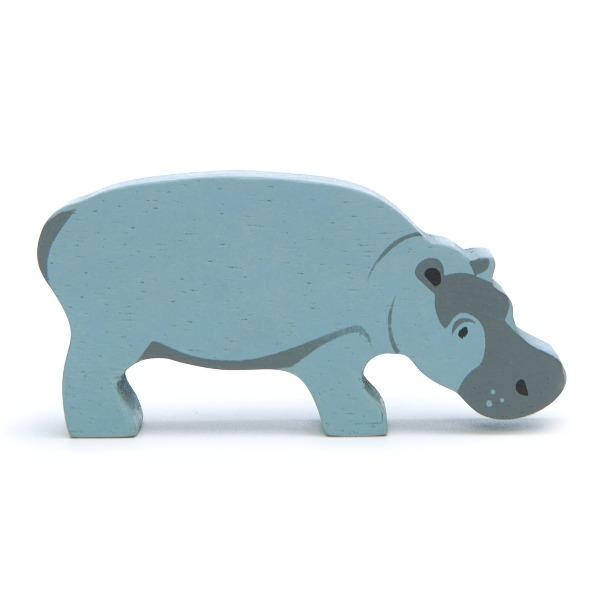 Tender Leaf Toys | Wooden Animals - Hippo - Alex and Moo