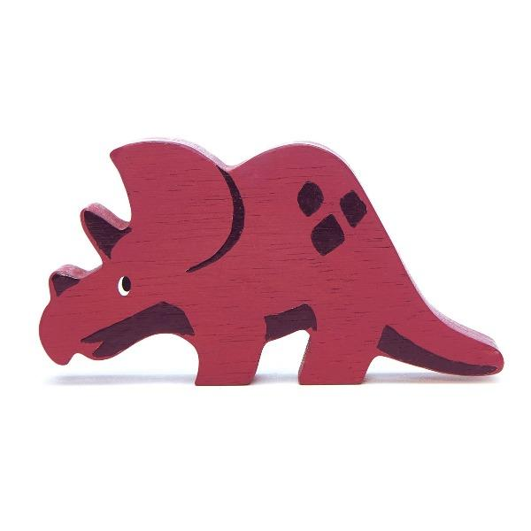 Tender Leaf Toys | Wooden Animals - Triceratops - Alex and Moo