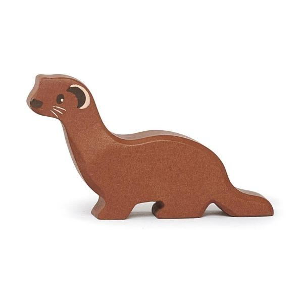 Tender Leaf Toys | Wooden Animals - Weasel - Alex and Moo