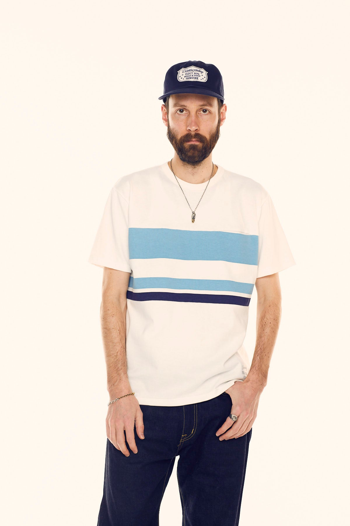 MIX BORDER STRIPE TEE