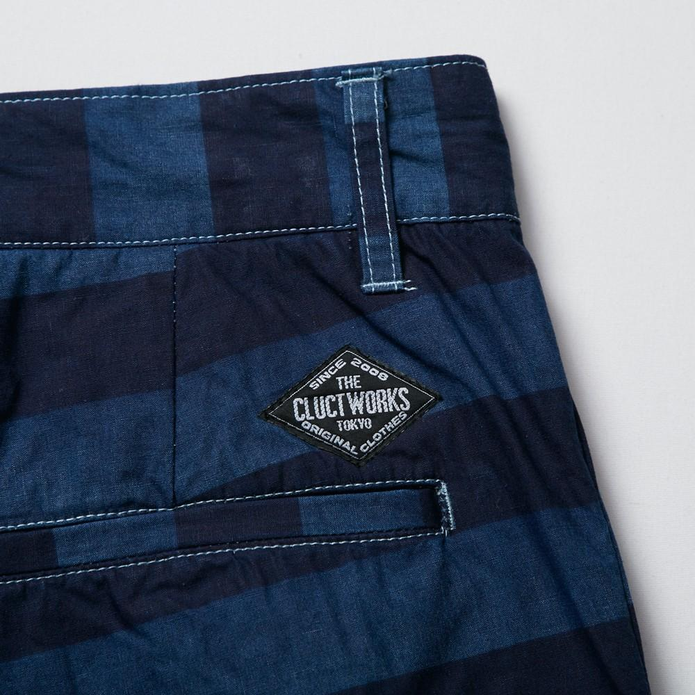 BORDER INDIGO SHORT_SAMPLE