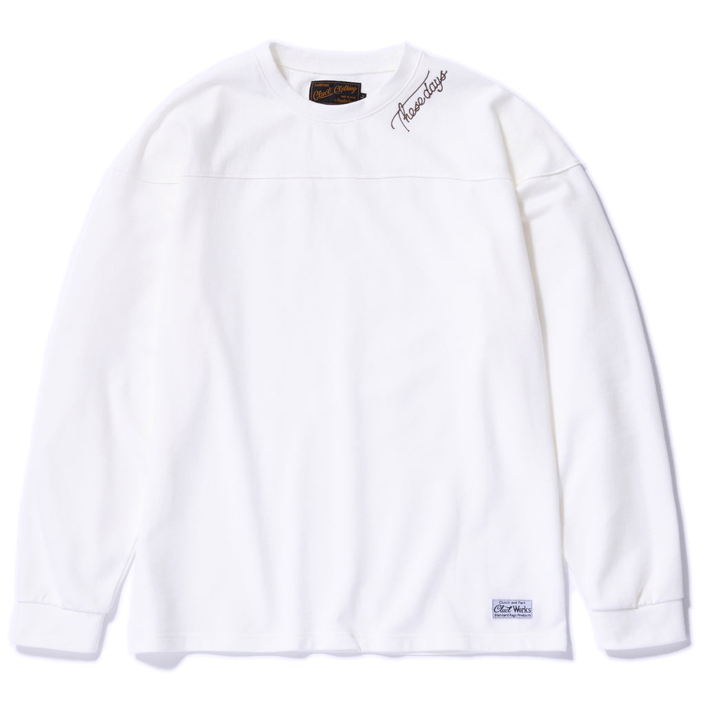 L/S EMBROIDERY CREW SWEAT 02924